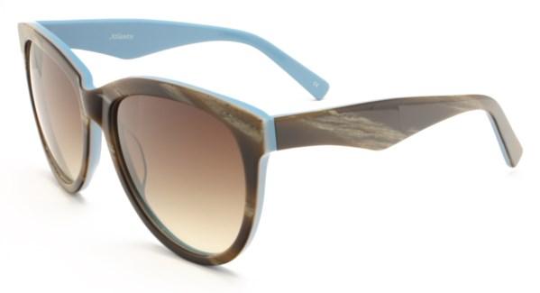 Atlantis Luxury Handmade Sunglasses (Brown Stripe)