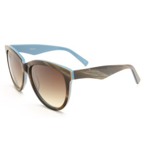 Atlantis Luxury Handmade Sunglasses (Brown Stripe)