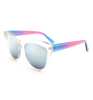Atlantis Luxury Handmade Sunglasses (Crystal with Blue/Purple/Pink)