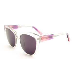 Atlantis Luxury Handmade Sunglasses (Crystal with Pink/Purple/Crystal)