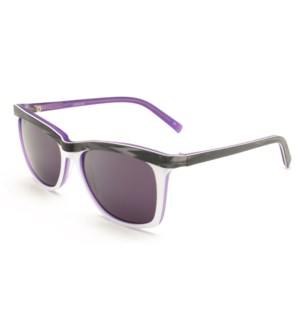 Atlantis Luxury Handmade Sunglasses (Purple Brown wood grain/White/Matte Blue)