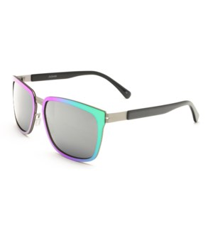 Atlantis Luxury Handmade Sunglasses (Purple Silver/Matte Gun)