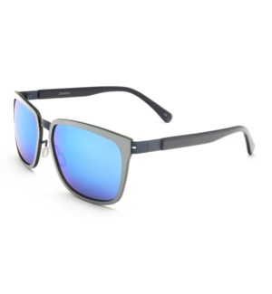 Atlantis Luxury Handmade Sunglasses (Silver/Matt Blue)