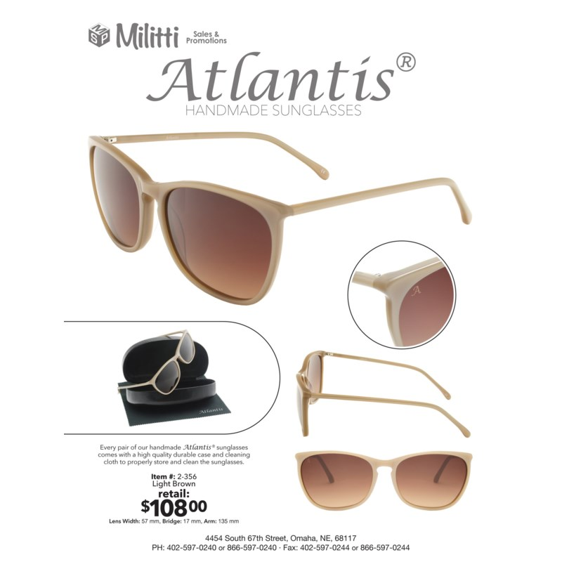 Flavian Atlantis Luxury Handmade Glasses (Light Brown)