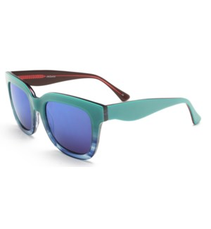Atlantis Luxury Handmade Sunglasses (Blue-Blue Stripe/Red-Blue Stripe)