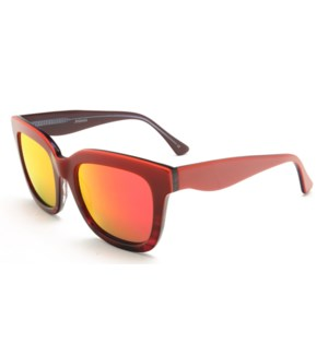 Atlantis Luxury Handmade Sunglasses (Red-Red stripe/Blue-Red Stripe)
