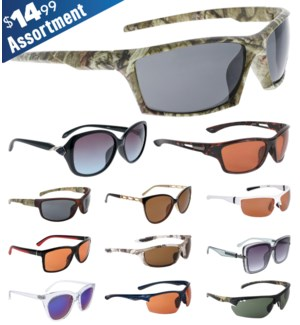 iShield Blue Tag Sunglasses Mix - Fashion, Open Road Series, Camo