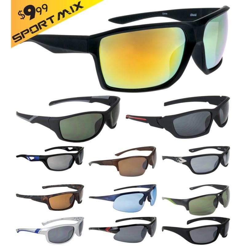 iShield Gold Tag Sunglasses Sport Mix