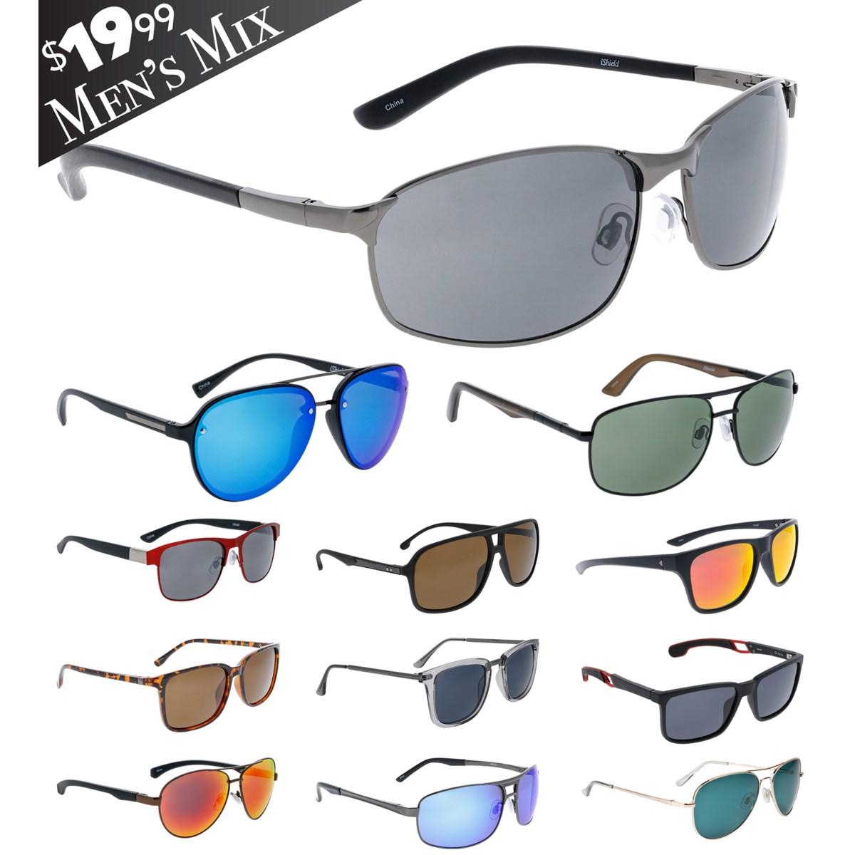 iShield Black Tag Sunglasses Men's Mix