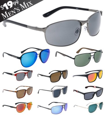 iShield Black Tag Sunglasses Men's Mix