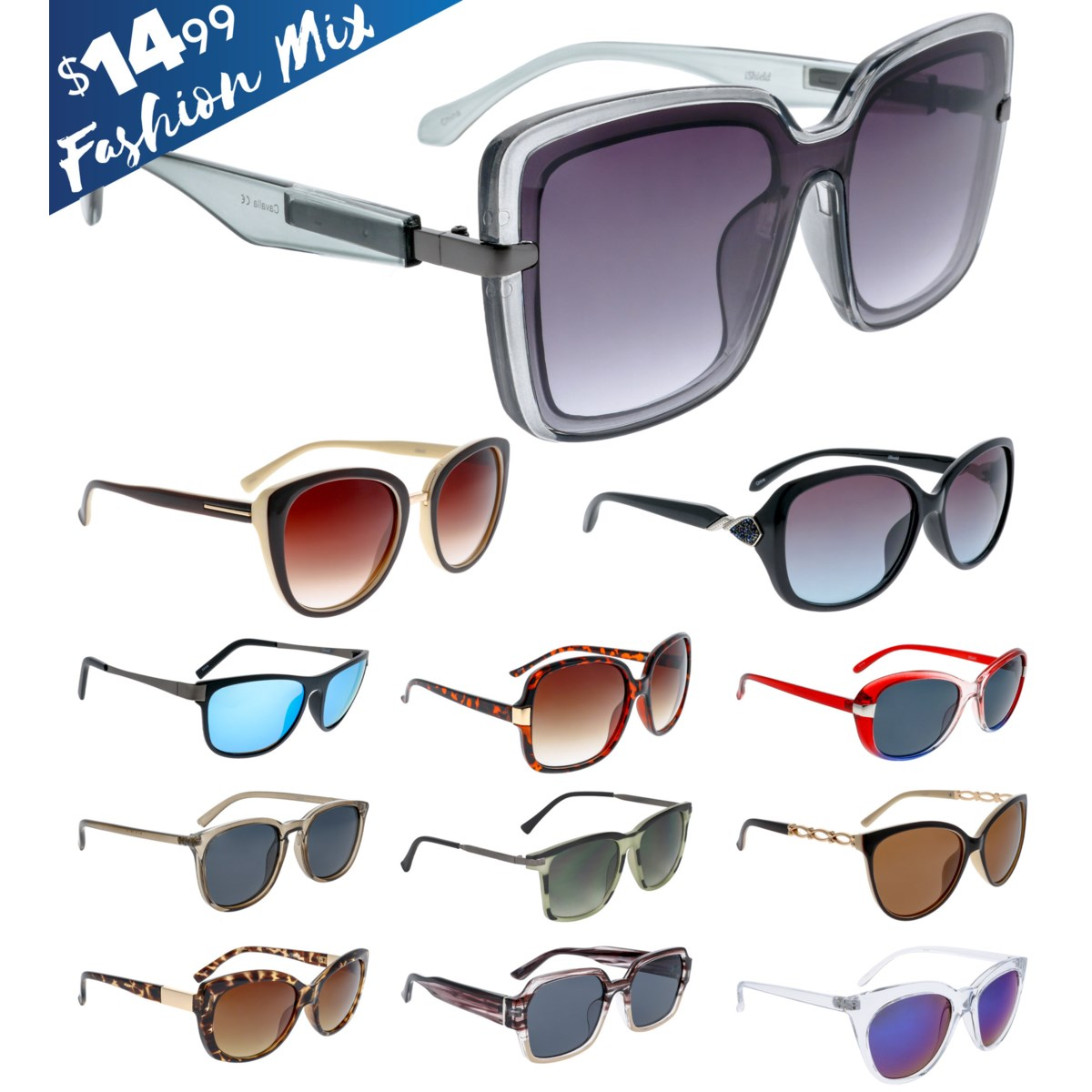iShield Blue Tag Sunglasses Fashion Mix