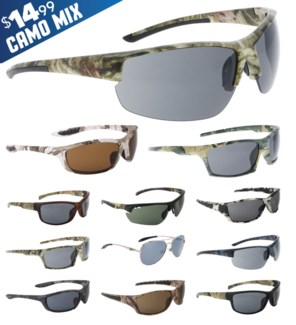 iShield Blue Tag Sunglasses Camo Mix