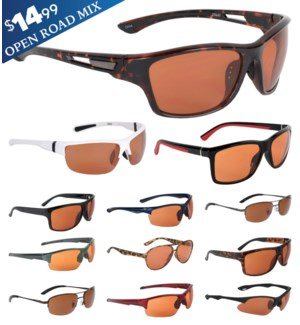 iShield Blue Tag Sunglasses Open Road Series Mix
