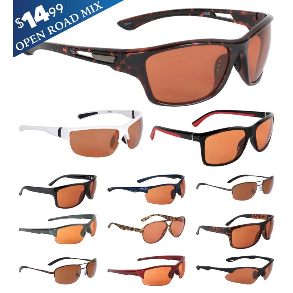 iShield Blue Tag Sunglasses Open Road Series Mix