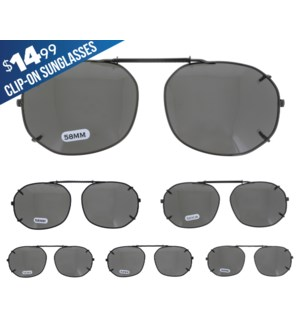 iShield $14.99 Clip On Sunglasses - Camden