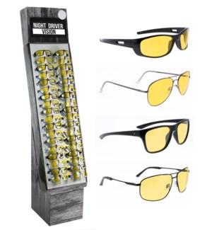 iShield $14.99 Night Driving Glasses Shipper - 48pcs