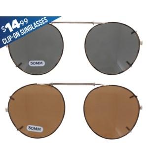 iShield $14.99 Clip On Sunglasses - Baltic