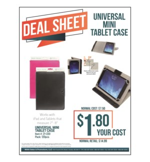 Universal Mini Tablet Case