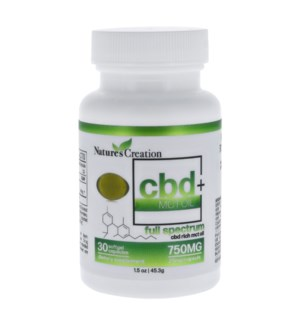 Nature's Creation CBD Gel Capsules 750mg / 30ct