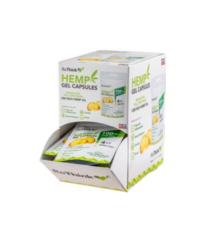 ReThink Hemp CBD Gel Capsules 100mg/4ct