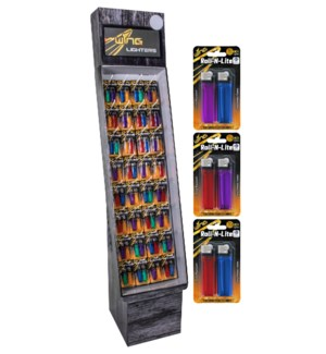 2 Pack Rolling Light Lighter Shipper - 288pcs