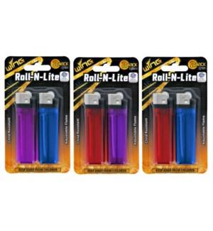 2 Pack Rolling Light Lighter 24/288