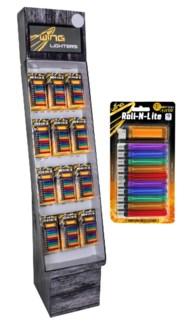 10 Pack + 1 Disposable Lighters Shipper - 120pcs