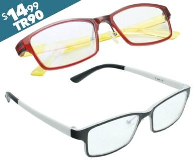 iShield Anti Reflective Coated Reading Glasses-  Rectangular Frame