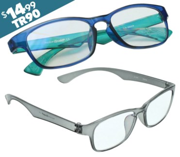 iShield Anti Reflective Coated Reading Glasses - Wayfarer