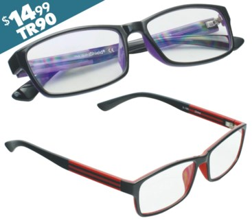 iShield Anti Reflective Reading Glasses-  Double Injection Rectangular Frame