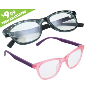 iShield Anti-Reflective Clear Lens for Kids and Teens - Retro