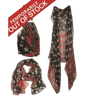 Nadine - Combo Scarf with USA Pattern