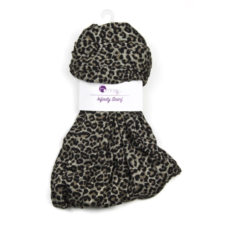 Madeleine - Infinity Scarf with Animal Prints