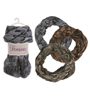 Kathryn - Infinity Scarf with Snakeskin Prints