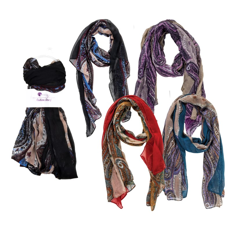 Jocelyn - Scarf with Paisley Design