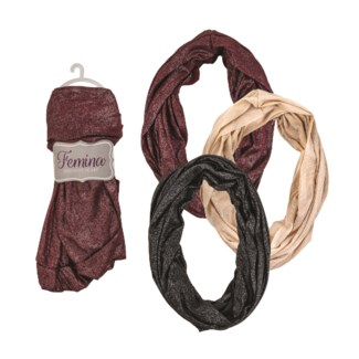Charlotte - Infinity Scarf with Sparkle Design