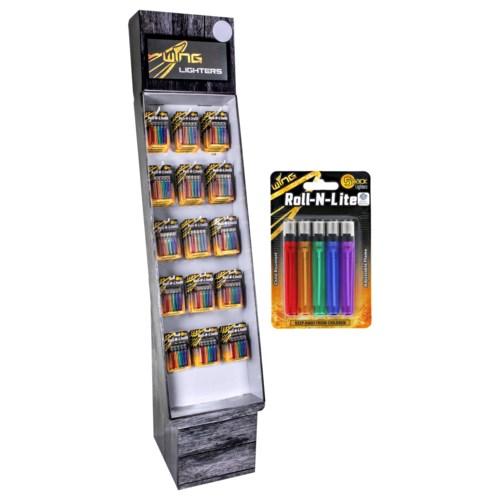 5 Pack Rolling Light Lighters Shipper - 120pcs