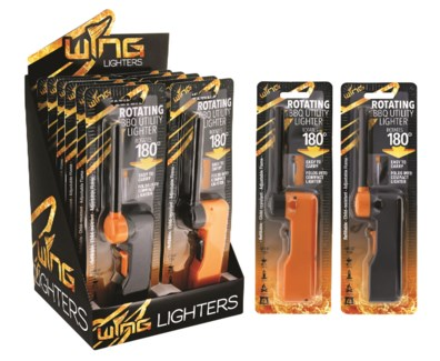 Wing Rotating BBQ Utility Lighter Blister Card