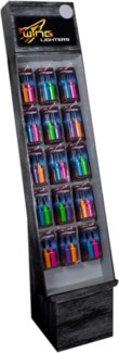 2 Pack Neon Mini BBQ Lighters Shipper - 288pcs
