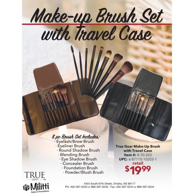 Make-up Brush Set with Travel Case