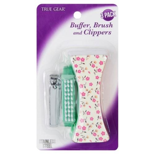 3 Pack- Buffer, Brush & Clipper