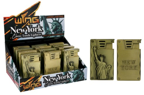NY + Statue of Liberty Metal Torch Lighter (12/240)