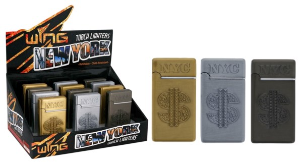 NYC Money Sign Metal Turbo Lighter (12/240)