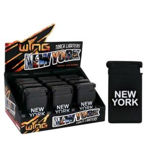 Black New York Metal Turbo Lighter (12/240)
