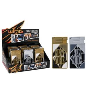 Geometric New York Metal Turbo Lighter (12/240)