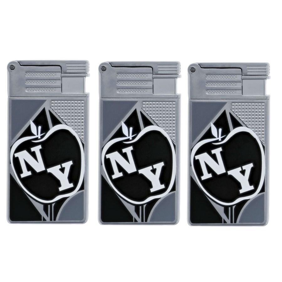 New York Apple Logo Metal Turbo Lighter (12/240)