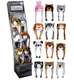 Animal Hats Display - 60pcs