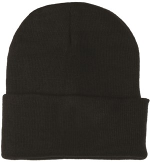 Solid Colored Beanie - Black