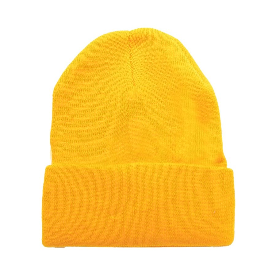 Solid Colored Beanie - Gold