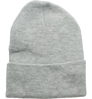 Solid Colored Beanie - Light Grey